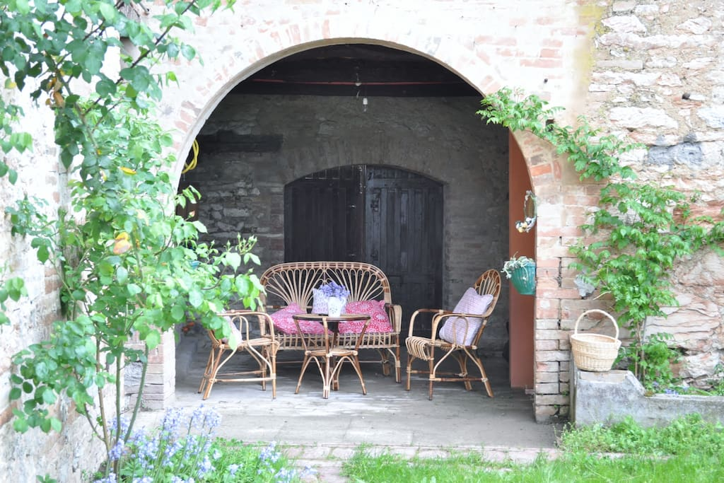Veranda sul giardino