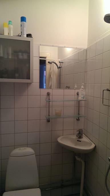 Klassisk københavner badeværelse.
