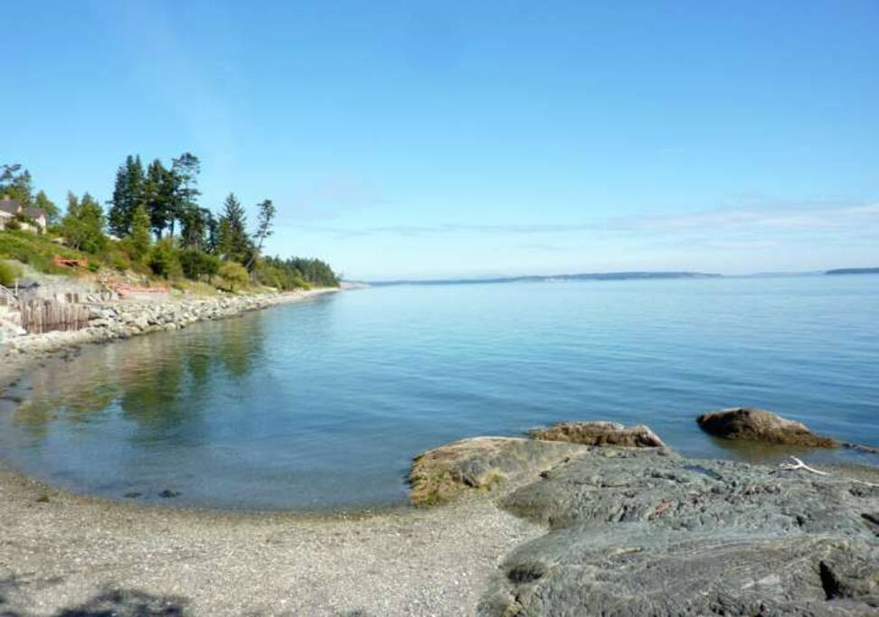 Prime waterfront location, right by Parker Beach in Saanich / Victoria.