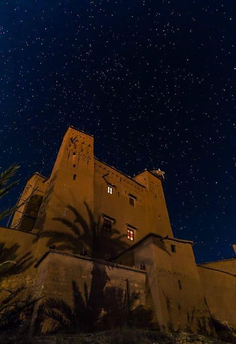 Nuit étoilée à la kasbah