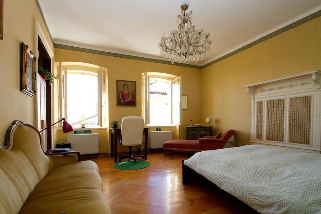Camera doppia ottima per chi viaggia con bimbi piccoli (culla o lettino da campeggio su richiesta)