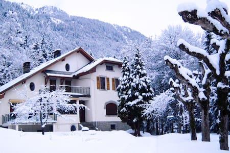 Great Villa in front of the MtBlanc - Chamonix
