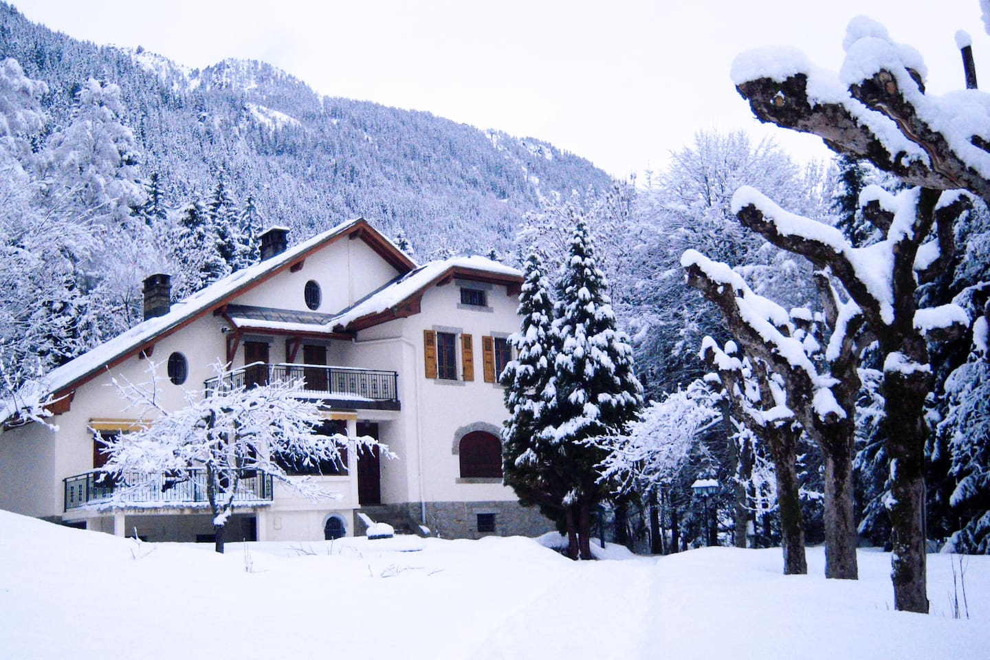 Great Villa in front of the MtBlanc