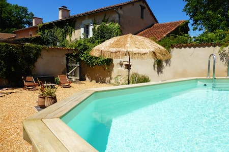 Beautiful countryside cottage with pool - Festalemps - Huis