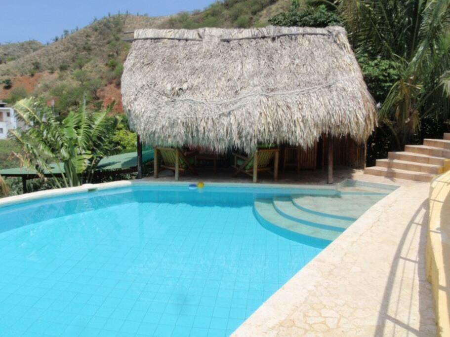 La piscina de Casa Los Cerros es divina