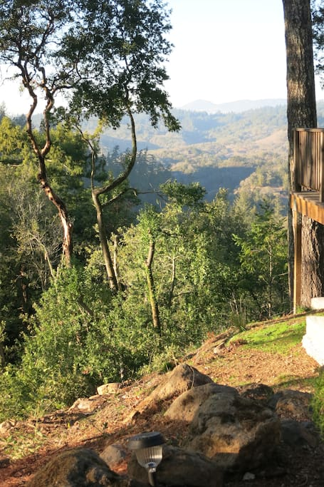 View to Alexander Valley at Modern & Hip Cabin