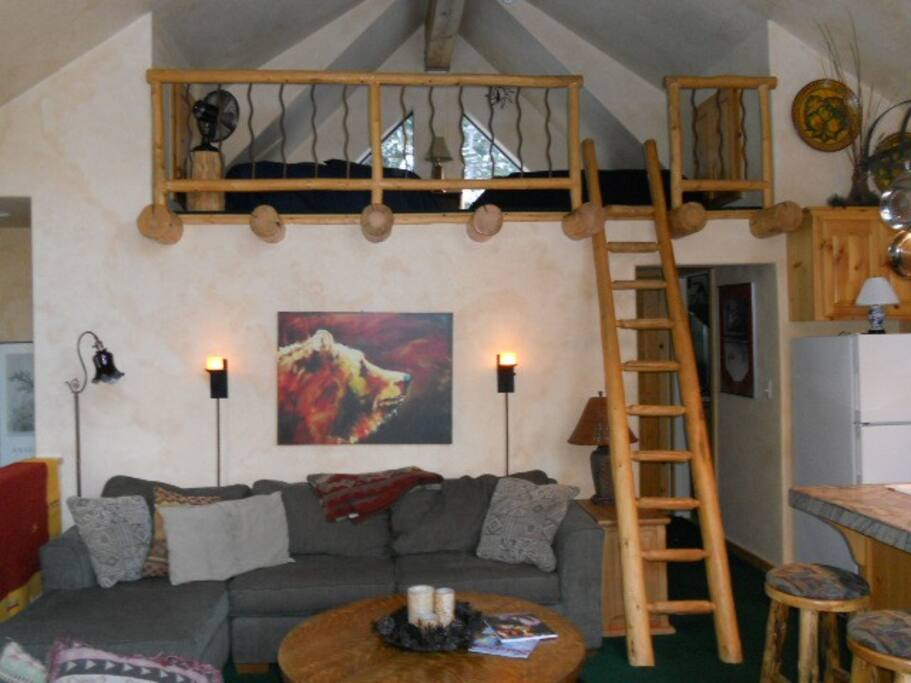 Apt living & loft area