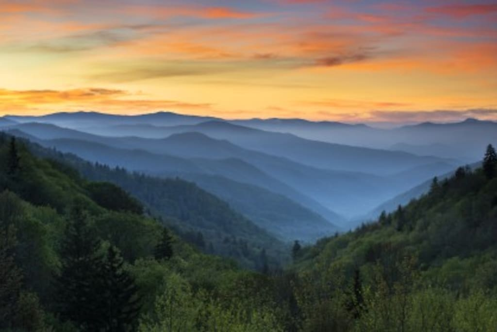Smoky Mountain scenery.