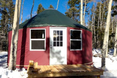 Enchanted Forest offers stunning vistas along meandering forest trails for hiking and mountain biking. The Long John Yurt is a 2-mile hike from the base area, 3.5m from Red River– gateway to the Wheeler Peak Wilderness Area - 38m from Taos.