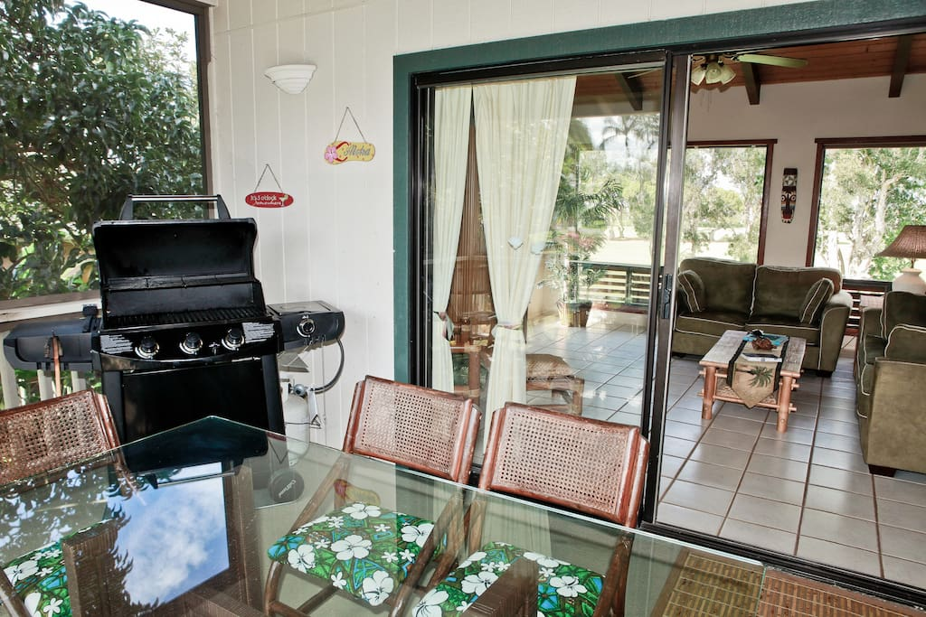 View from your screened in Lanai into the Living area