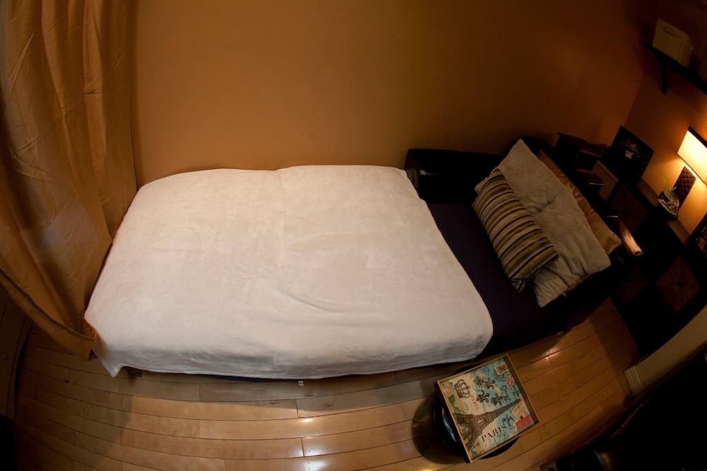 Aerial view of your bed