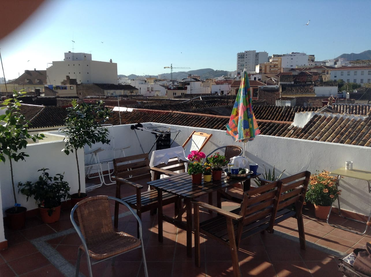 Private rooftop terrace. Ping pong area as well.