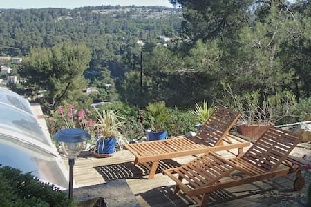 Appartement+pool+terasse private+ Calanque+ Cassis - Apartemen