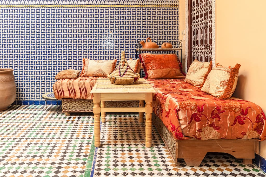 Moroccan corner in the patio