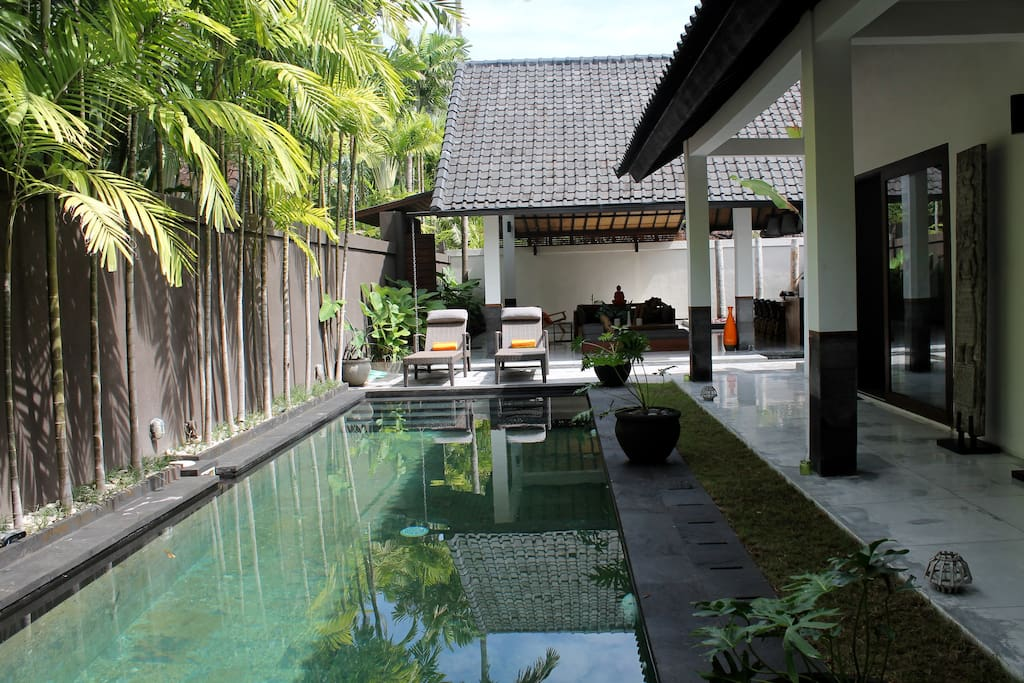 A refreshing 10 meter private swimming pool.