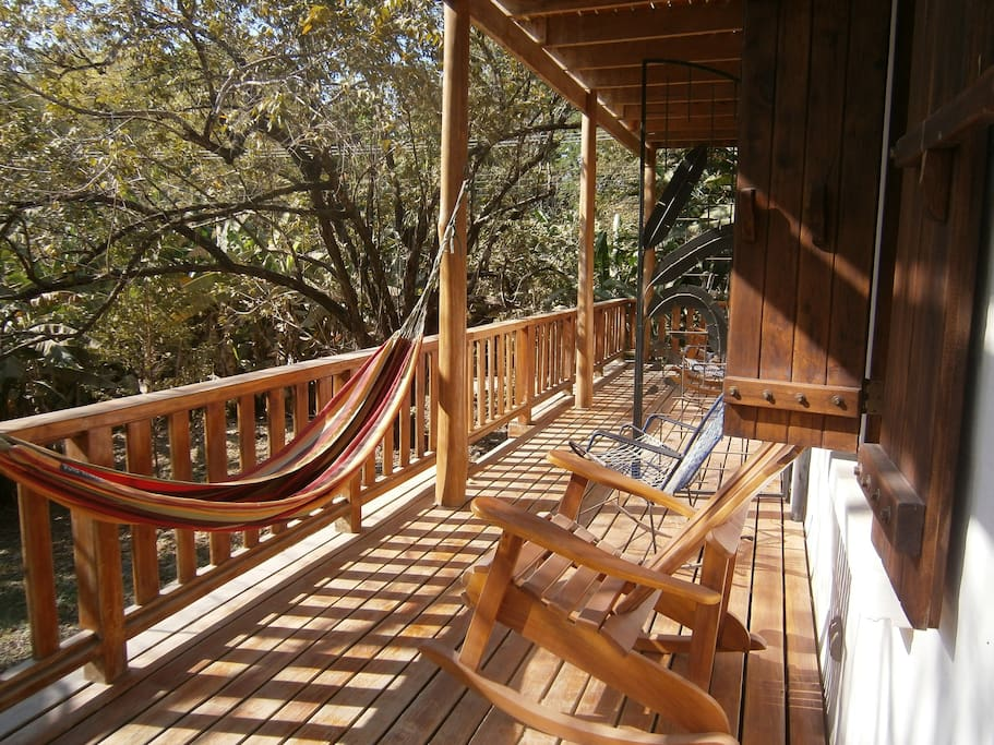 Lazy hammock and chairs on front balcony !