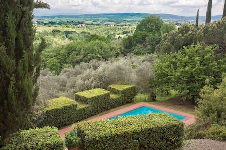Half of a Villa with pool 5km Siena - il caminetto - Siena