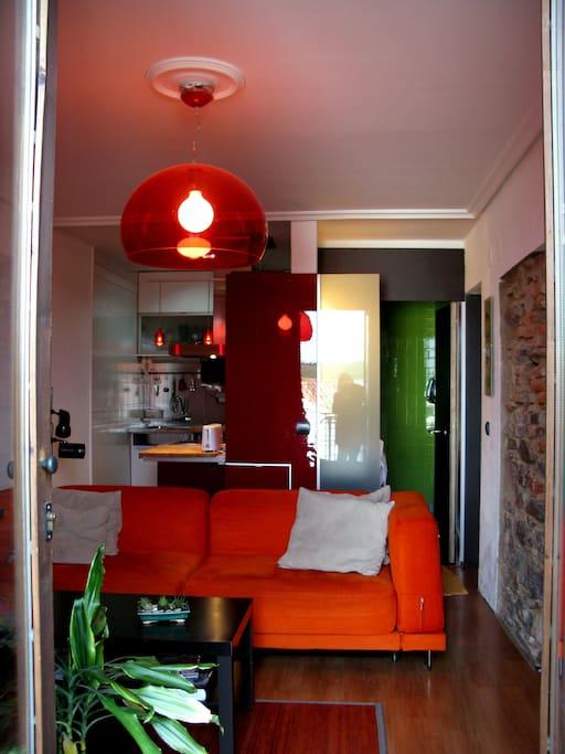 Apartamento de diseño con terraza