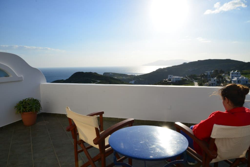 Relax or dine while enjoying the view