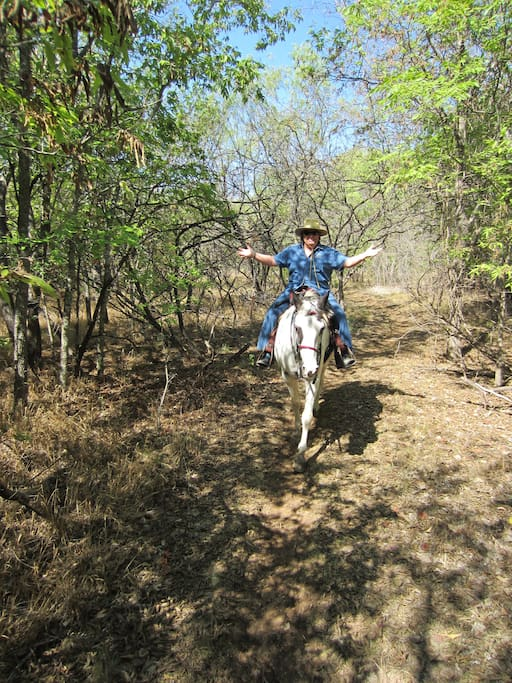 Here's ONION CREEK PARK,14 miles of trails to ride, walk or bike. That's me on Jewel.