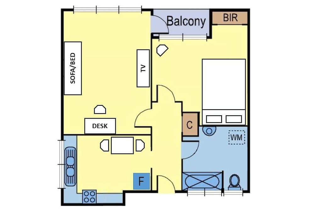 Spacious and convenient layout - large and fully equipped kitchen, bright living room, big bathroom, chic bedroom!