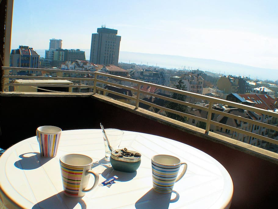 Coffee time on the terrace