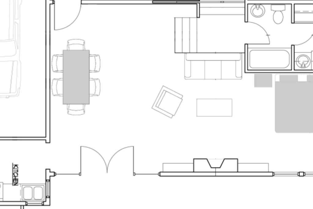 Apartment floor plan.