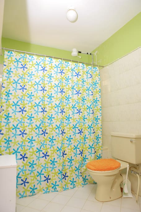 This is the bathroom.  Comes with a hot shower and ample space.