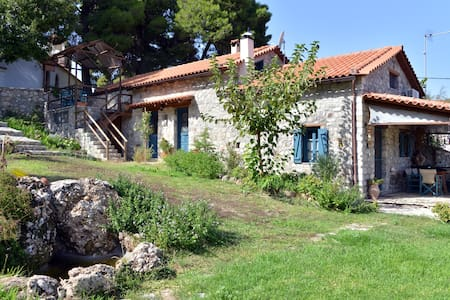 Newly built stone house with view - Chatzis - Villa