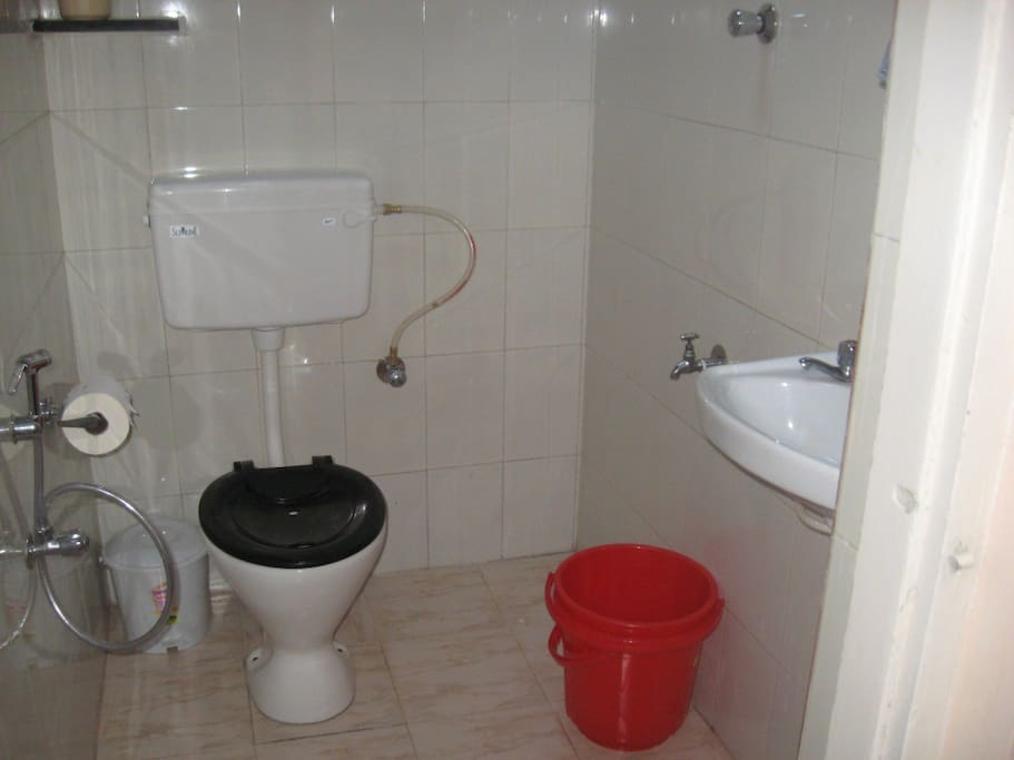 Clean Toilets with hot water