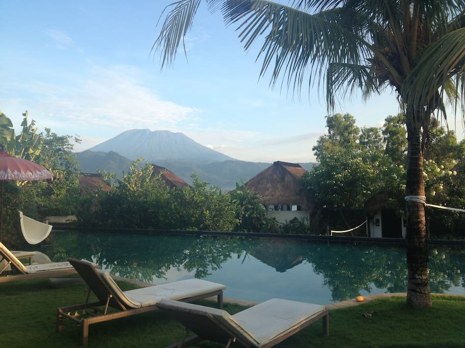 Mount Agung from our villa