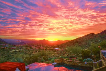 1 BR Casita w/amazing sunset and city lights view - Scottsdale - Pensione