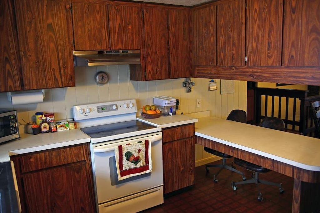 Fully equipped kitchen is available for guests