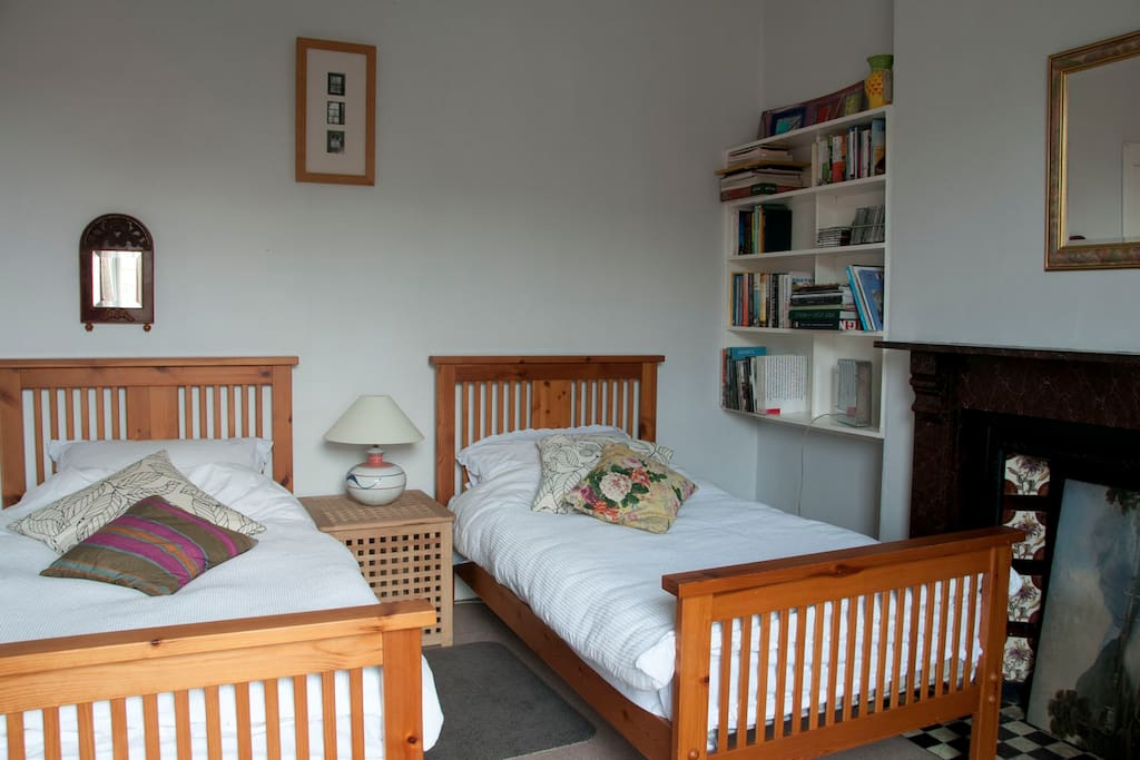 twin-bedded guest room
