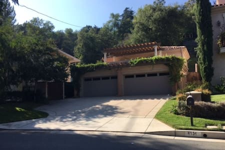 The house is a great location in LA, south side of La Canada where the luxurious homes are, JPL/NASA residential area, beautiful, quiet and convenient. 2 miles from Pasadena Old Town, Queen bed, brand new and quality furniture with all you need for relaxing time at home.