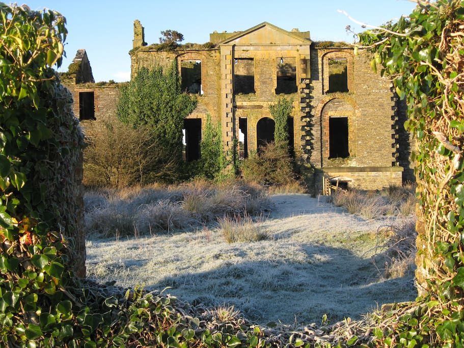 Cahersiveen Workhouse ruins - on our Farm !