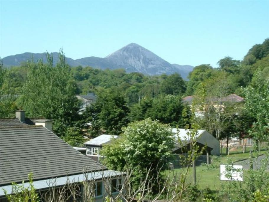 View of Croagh Patrick taken from garden.