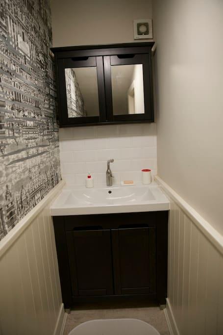 Private en suite sink.