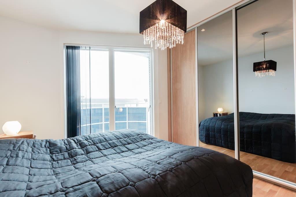 Main bedroom with own balcony