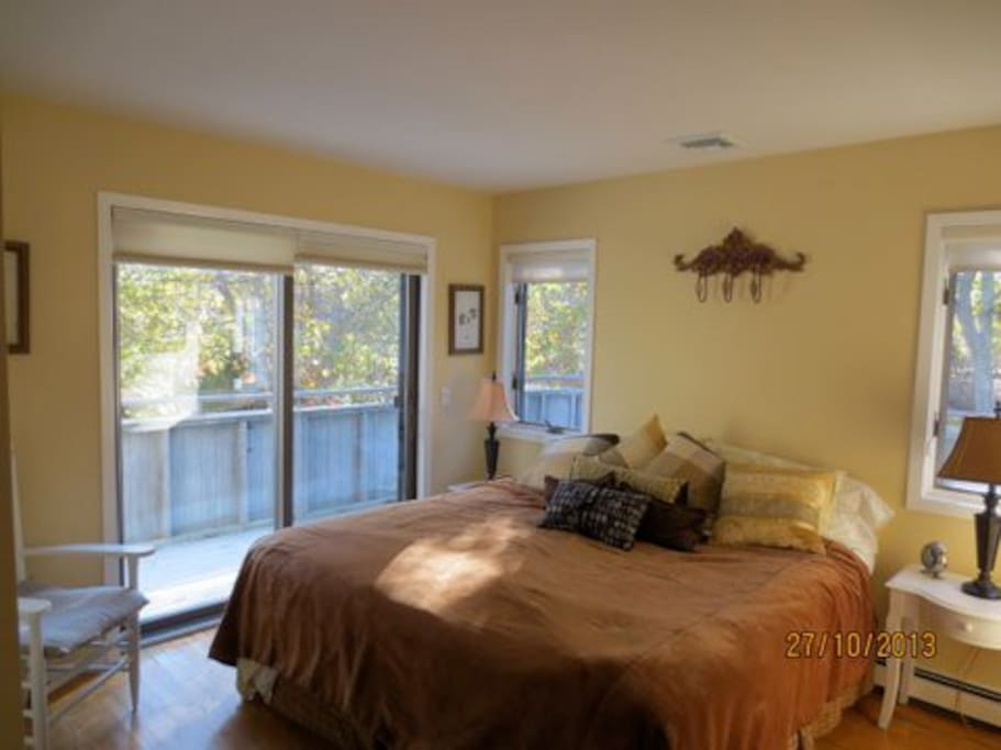 Master bedroom with wrap around deck and attached full bathroom