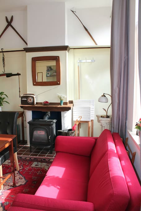 Charming studio by canal in Delft