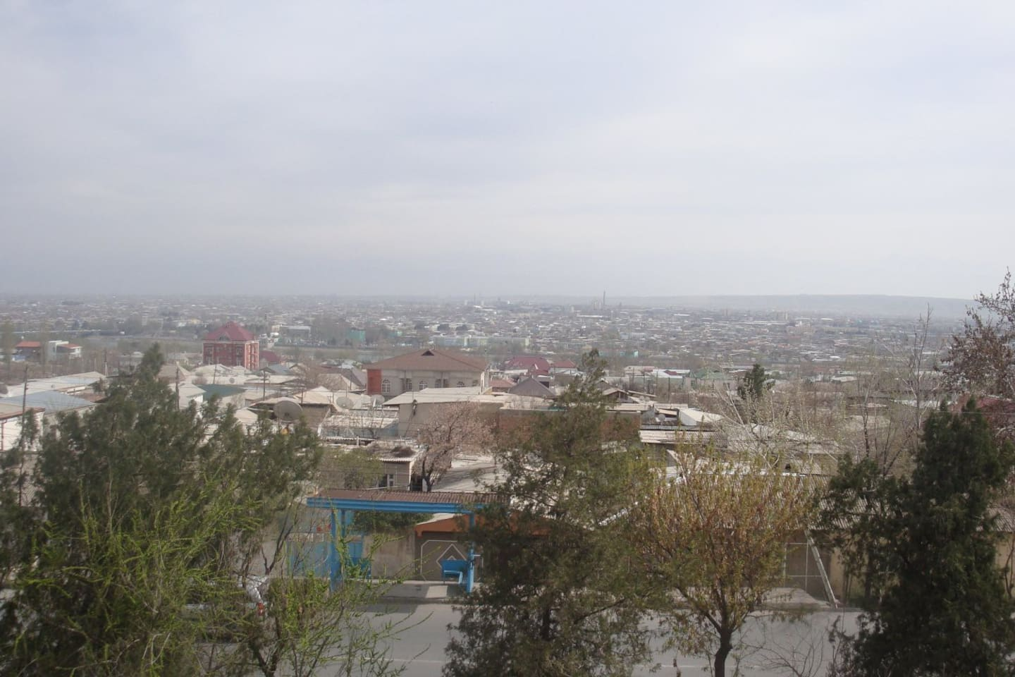 amazing view of Khujand, especially during early hours