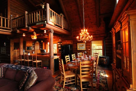 Timber Lodge Log Home Theater Room
