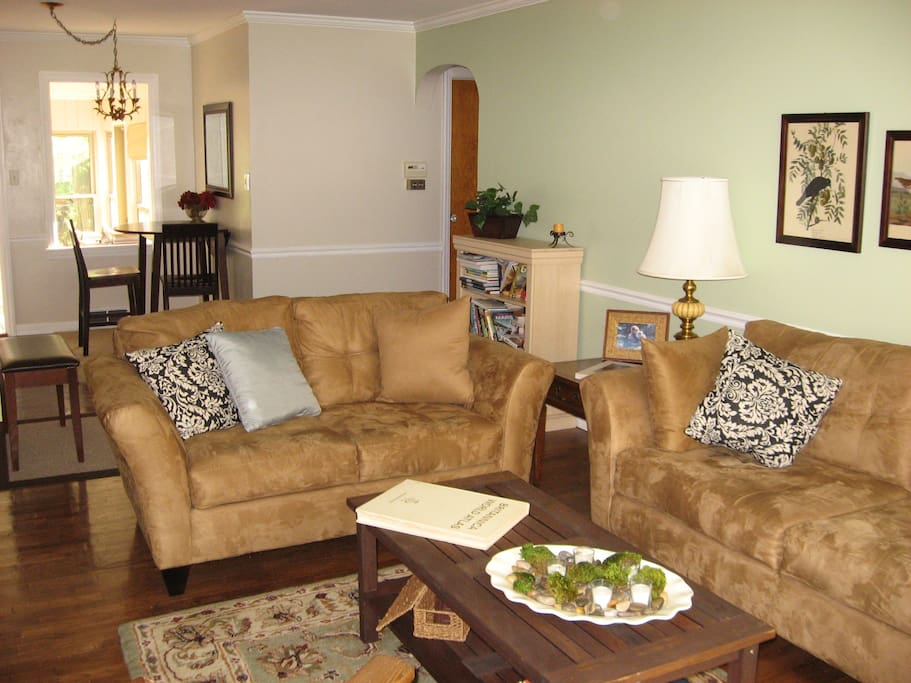 Living room and dining nook