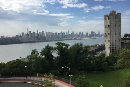 Private , sunny room with amazing manhattan views - Lakás