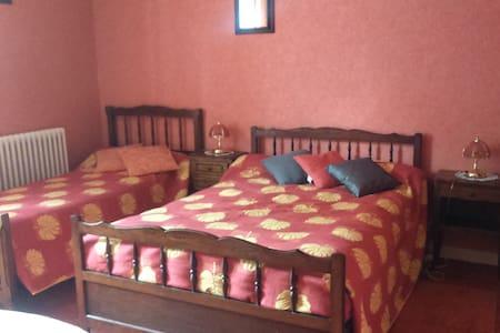 Chambre orange - Brioux-sur-Boutonne - Bed & Breakfast