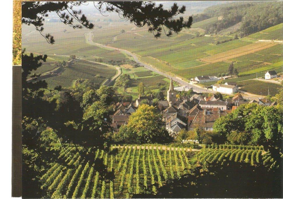 Le village vu du haut