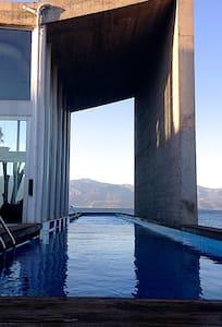 GLASS VILLA ON THE SEA - Kamares - Villa