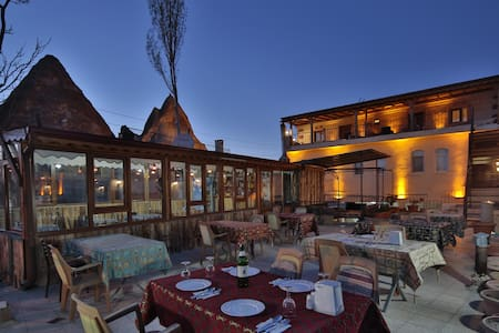 Goreme Valley Cave House (used to named Omer's Place) is actually one of the oldest accomodations in Goreme when tourism was just about to start in late 80s.  After years of break we have re-estaplished our newly restorated old hotel into a modern,