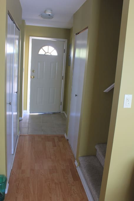 Kitchen with fridge, stove, dishwasher, microwave; all dishes, pots/pans, cutlery - this is a very self-contained, move-in ready spot